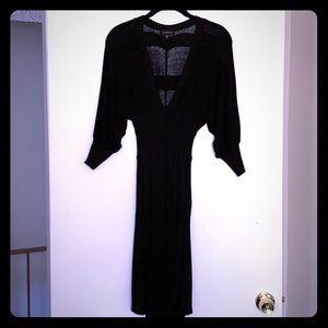 Woven Black Dress